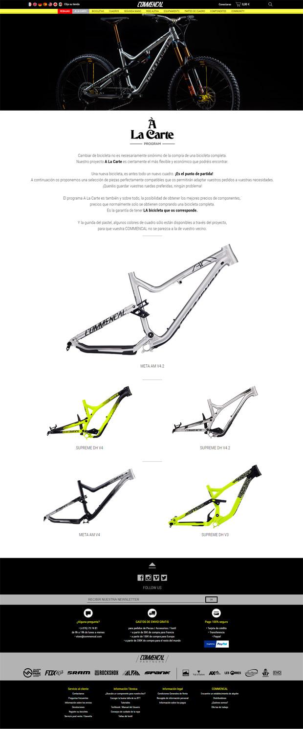 En TodoMountainBike: Commencal A La Carte, o cómo estrenar bicicleta nueva ahorrando en los componentes que vamos a reutilizar