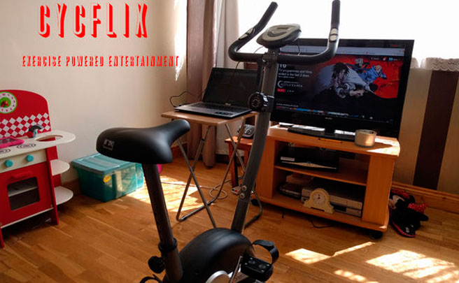 Cycflix, la bicicleta estática para ver series de Netflix sin dejar de pedalear