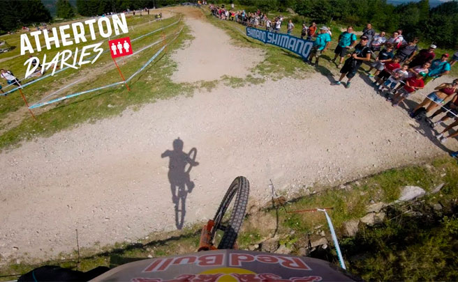 El descenso (en primera persona) de Rachel Atherton en la Copa del Mundo DHI 2017 de Val di Sole