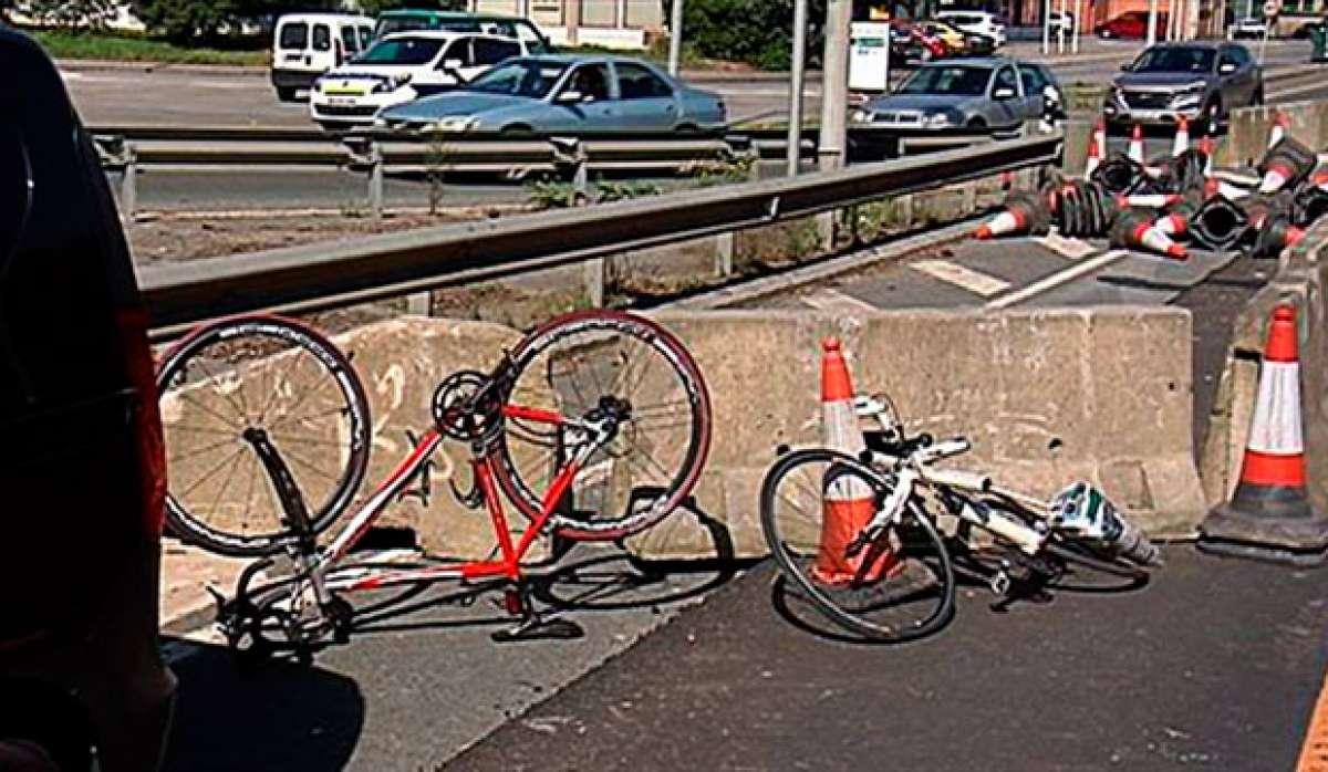 Dos ciclistas arrollados en Iurreta (Bizkaia) por un conductor drogado