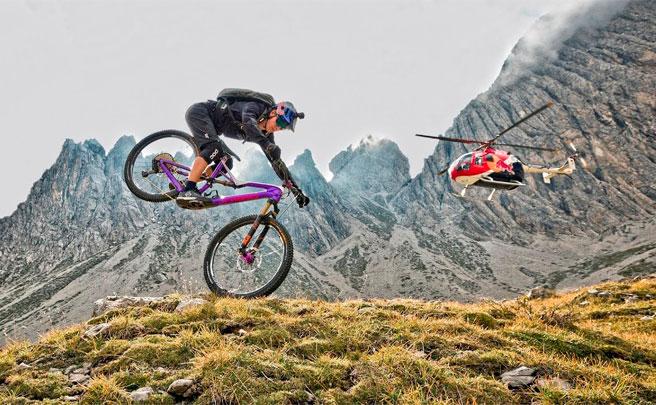 Rodando en los Dolomitas (Italia) con Fabio Wibmer