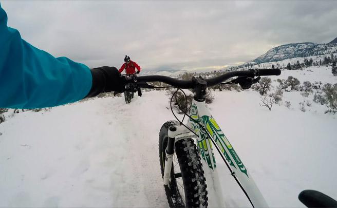 Sesión invernal de Freeride sobre 'Fat Bikes' con Geoff Gulevich y compañía