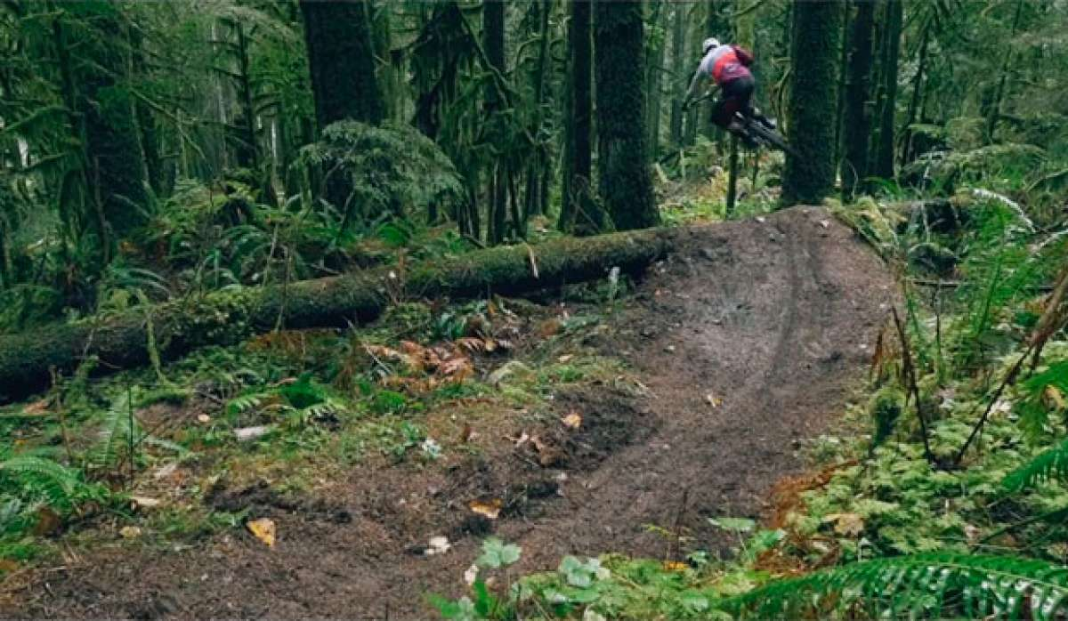 """Flow Down, Speed Up"", rodando en Squamish (Canadá) con Remi Gauvin del OneUp Team"