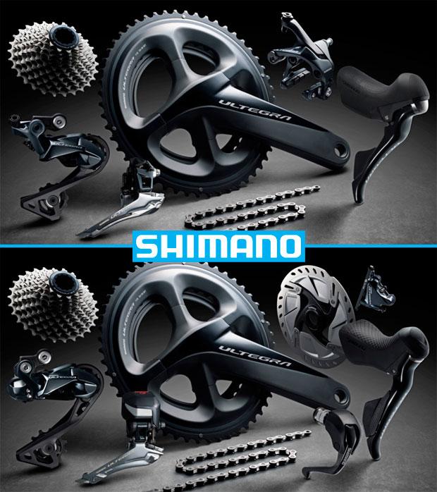Versión mecánica, Di2 electrónica y frenos hidráulicos para el grupo Shimano Ultegra R8000 de 2018