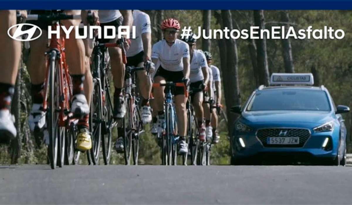 Ciclistas más seguros en las carreteras españolas con Hyundai y sus coches de apoyo gratuitos