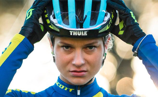 Jenny Rissveds y el casco Scott Centric Plus, una combinación ganadora