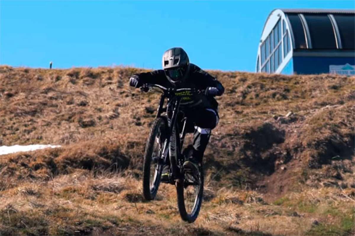 Rodando en el La Bresse Bike Park con Rémi Thirion