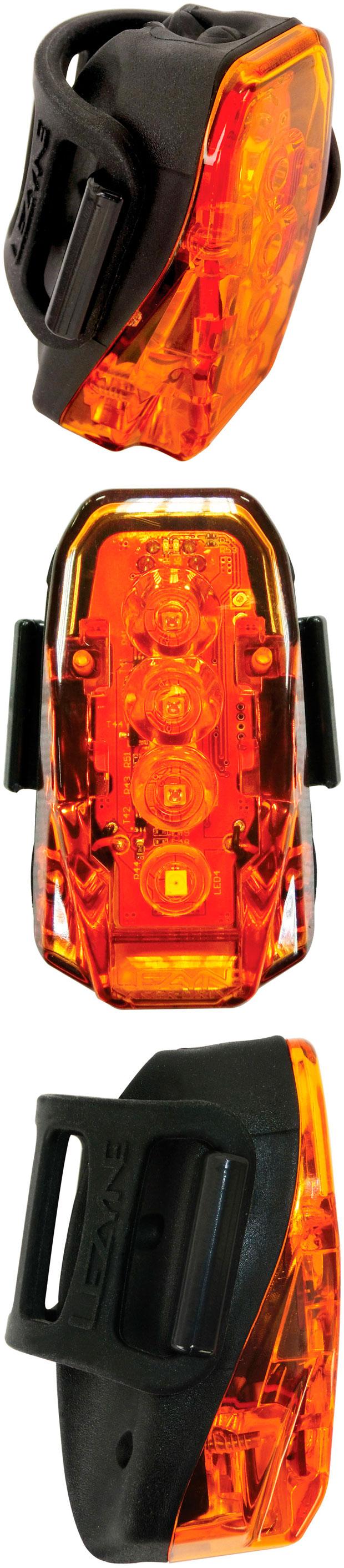 En TodoMountainBike: Lezyne Laser Drive, un foco trasero con luz diurna y zona de seguridad proyectada en el suelo