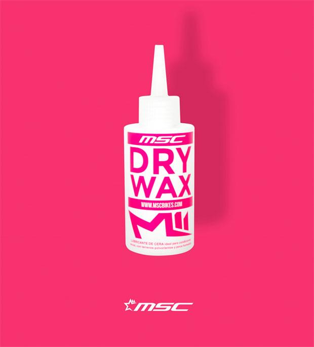 Para mantener la cadena perfectamente lubricada en verano: MSC DRY WAX