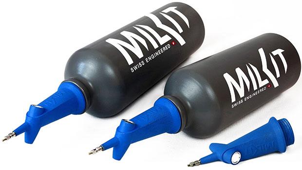 En TodoMountainBike: MilKit Booster, un bidón de hidratación convertible en depósito de aire comprimido para talonar ruedas tubelizadas