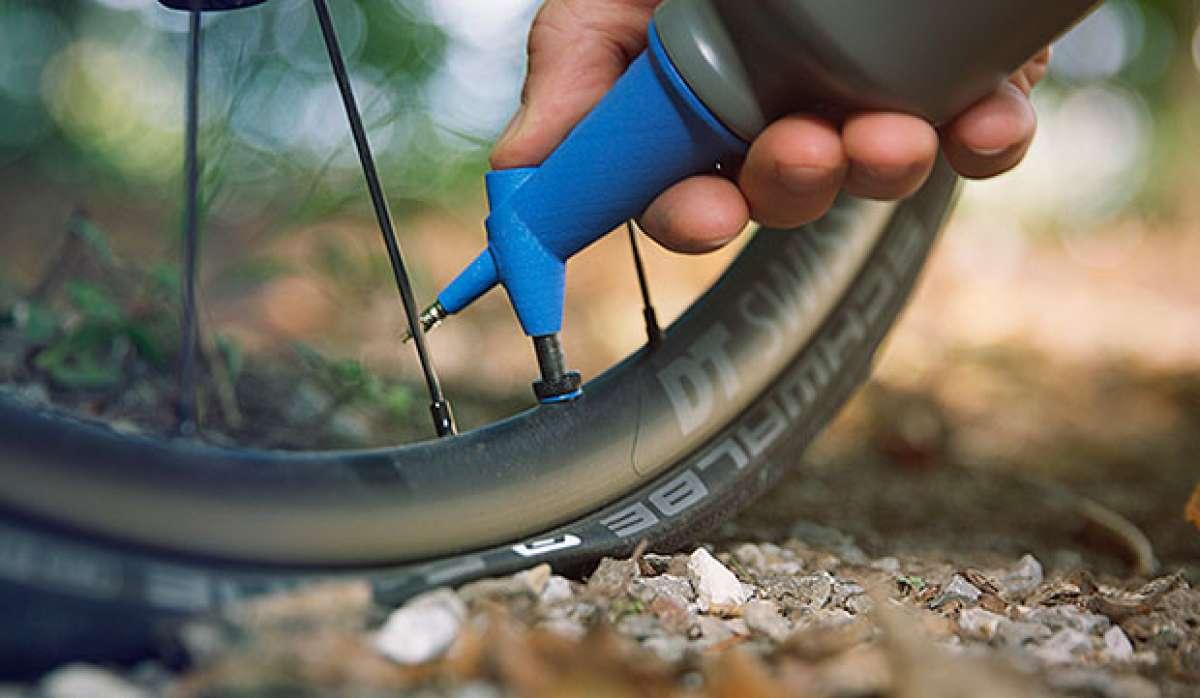 MilKit Booster, un bidón de hidratación convertible en depósito de aire comprimido para talonar ruedas tubelizadas