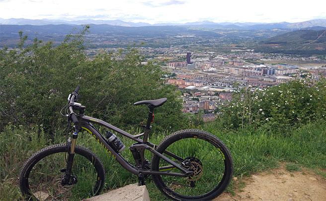 La foto del día en TodoMountainBike: 'Ponferrada desde el monte Pajariel'