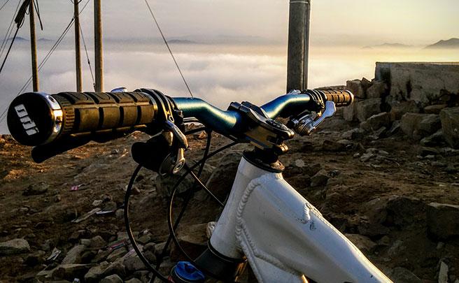 La foto del día en TodoMountainBike: 'Sobre las nubes'
