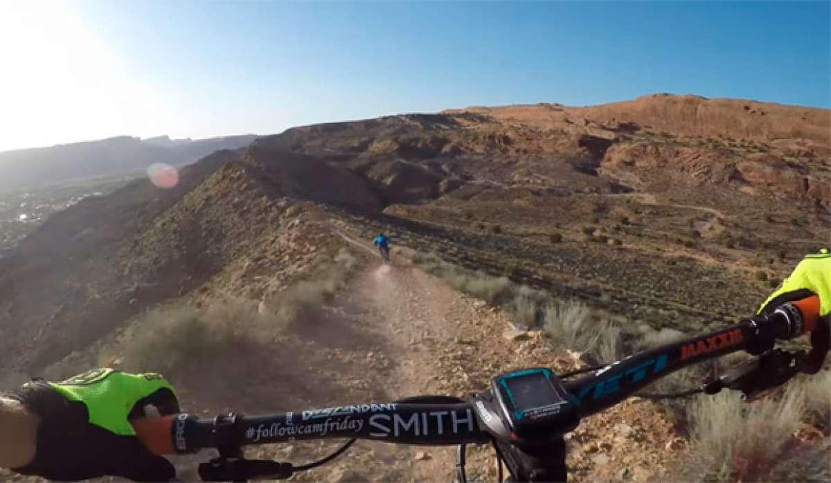 """Rodando por el """"Dave""""s Trail"""" de Moab, en Utah (USA), con Nate Hills y Kyle Mears"""