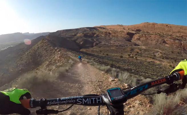 Rodando por el 'Dave's Trail' de Moab, en Utah (USA), con Nate Hills y Kyle Mears