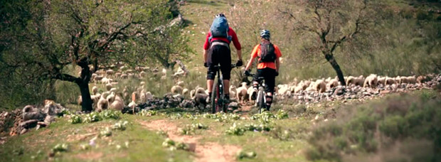 Practicando Mountain Biking en Andalucía (España)