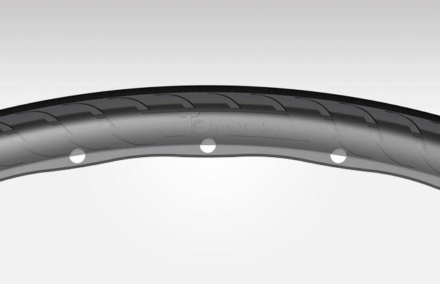 En TodoMountainBike: Adiós a los pinchazos sobre el asfalto con los avanzados neumáticos sin aire Tannus 700x25c