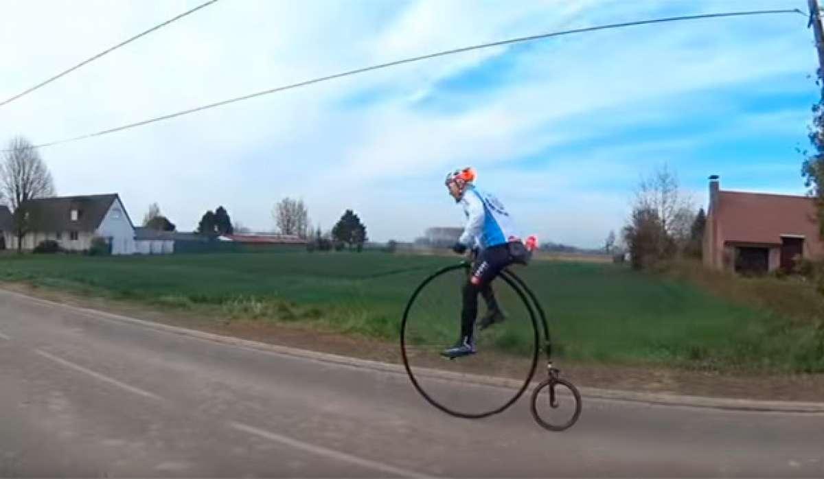 En TodoMountainBike: Así se hace la París-Roubaix sobre una Penny Farthing