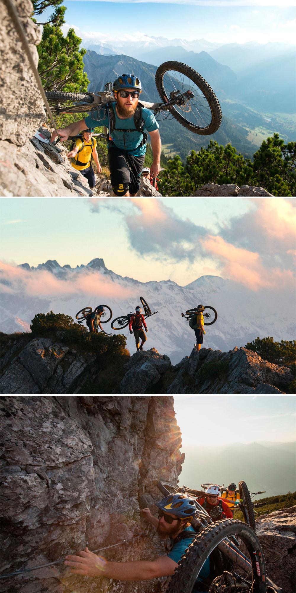 En TodoMountainBike: PeakRider, un práctico sistema para portear la bicicleta con total comodidad en los tramos más difíciles