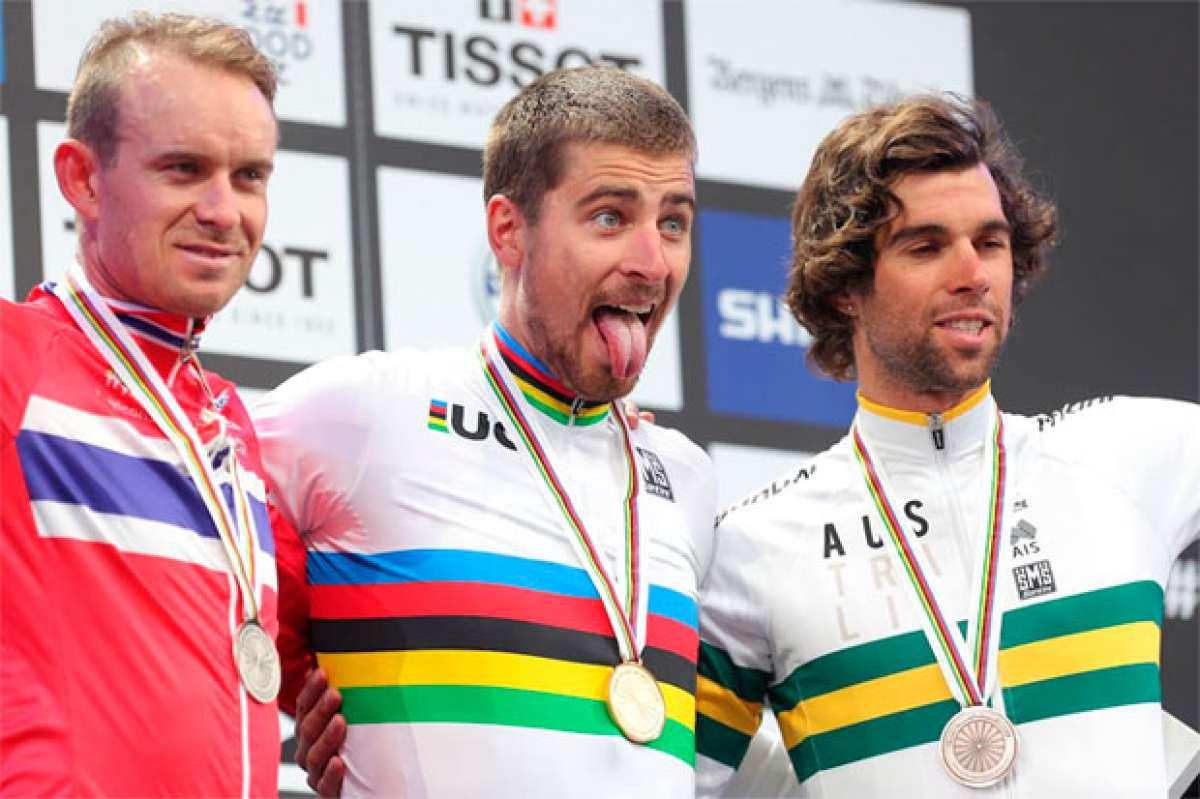 Peter Sagan, triple campeón del mundo en el Mundial de Ruta 2017 de Bergen