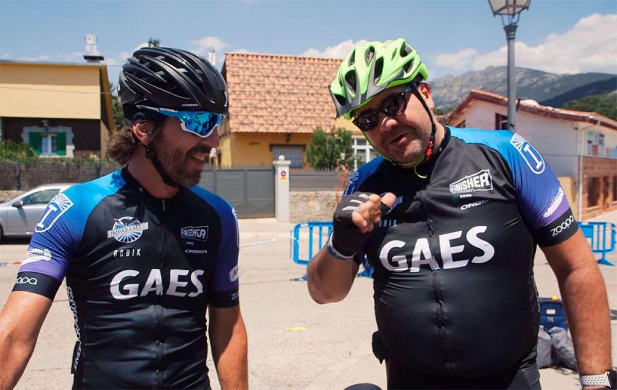 """El divertido pique entre Santi Millán y """"Flo"""" Fernández durante la Gaes Pilgrim Race 2017"""