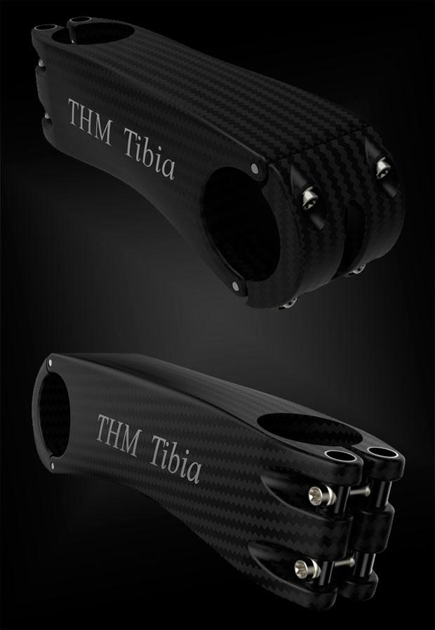 Menos de 80 gramos de peso para la potencia de carbono THM Tibia