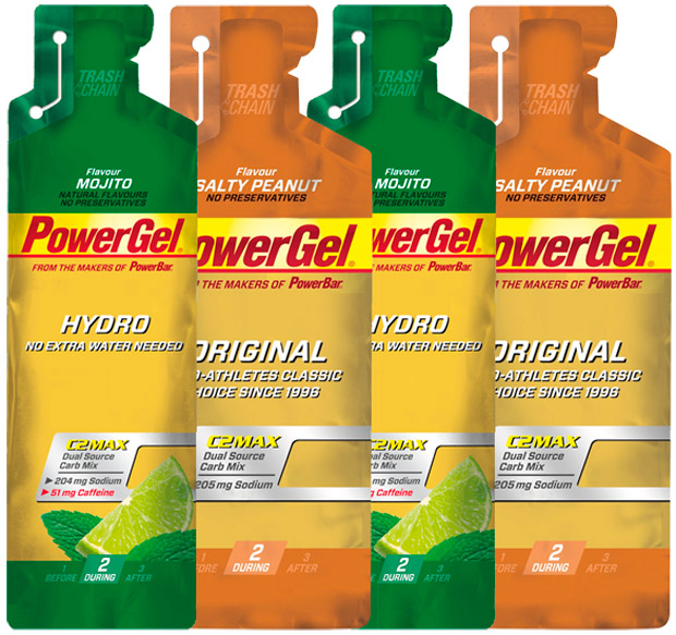 En TodoMountainBike: ¿Cacahuetes salados o mojito? Nuevos sabores para los geles energéticos PowerBar PowerGel