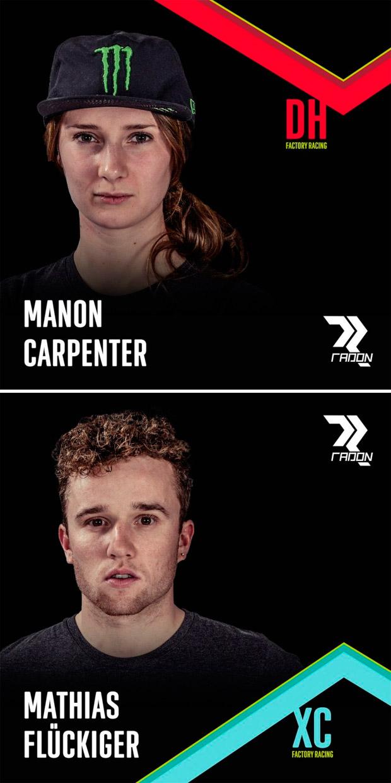 En TodoMountainBike: Manon Carpenter y Mathias Flückiger, las nuevas estrellas de los Radon Factory Teams de DH y XC