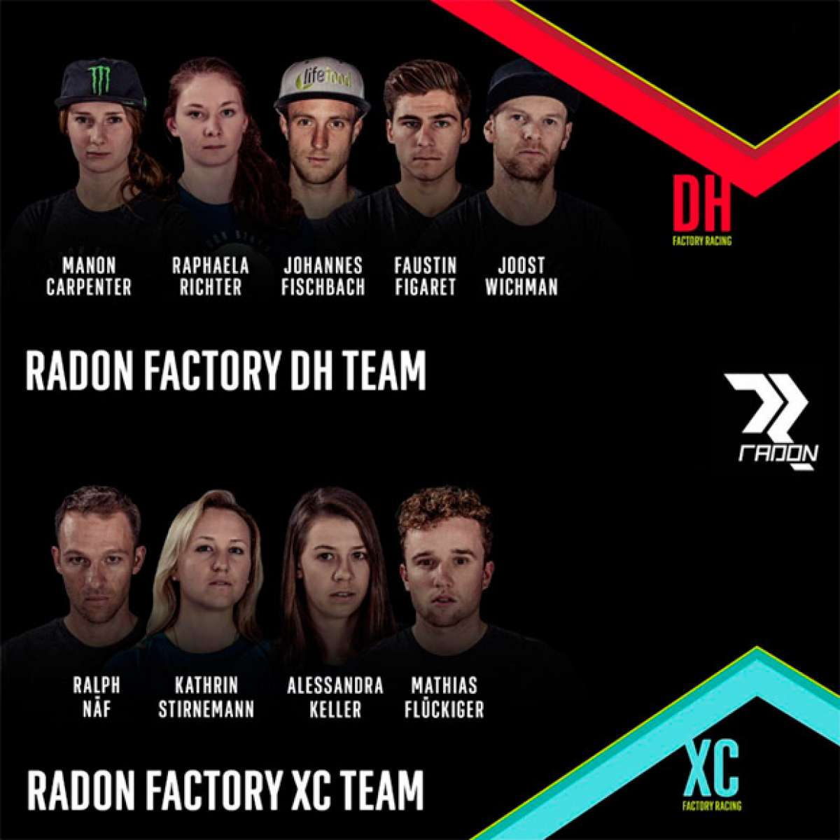 Manon Carpenter y Mathias Flückiger, las nuevas estrellas de los Radon Factory Teams de DH y XC