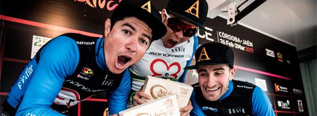 La primera etapa de la Andalucía Bike Race 2017 con el Primaflor-Mondraker-Rotor Racing Team