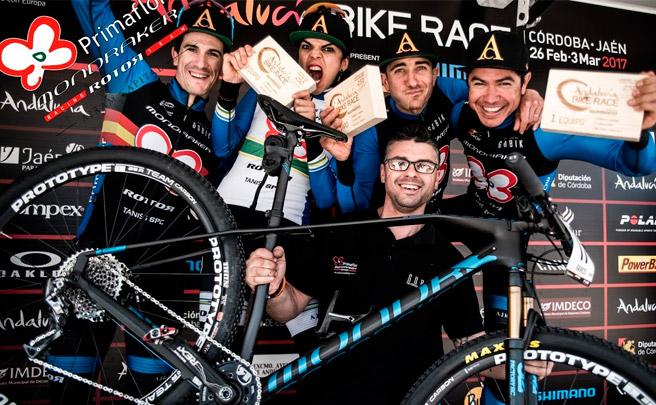 La penúltima etapa de la Andalucía Bike Race 2017 con el Primaflor-Mondraker-Rotor Racing Team
