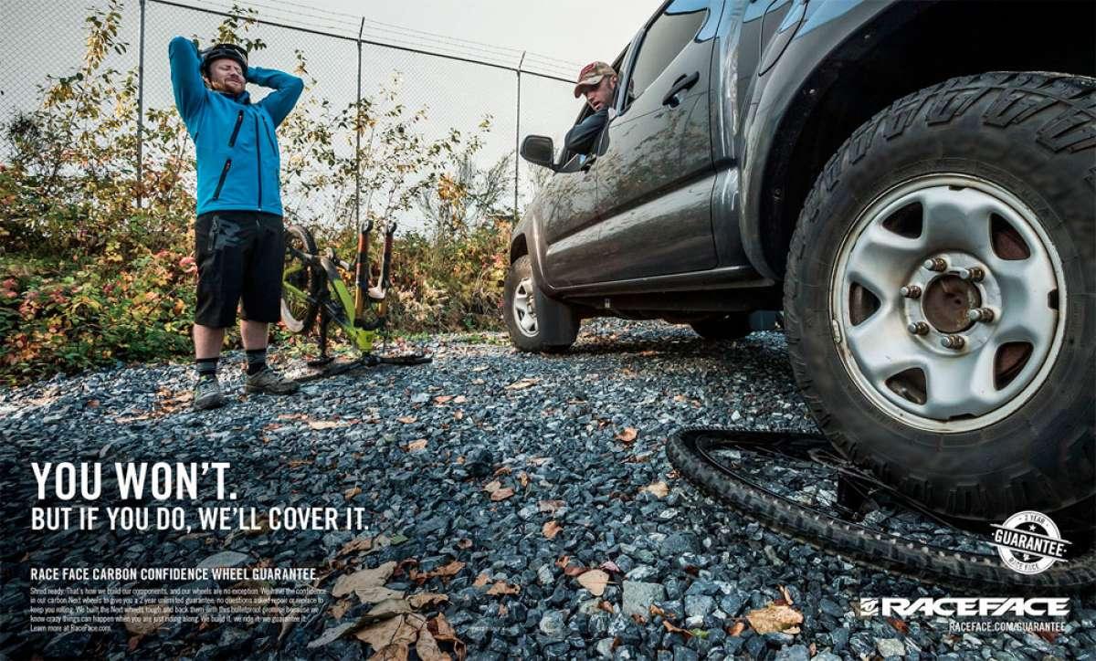 """Race Face introduce una garantía de 2 años """"sin límite"""" para sus ruedas de carbono"""