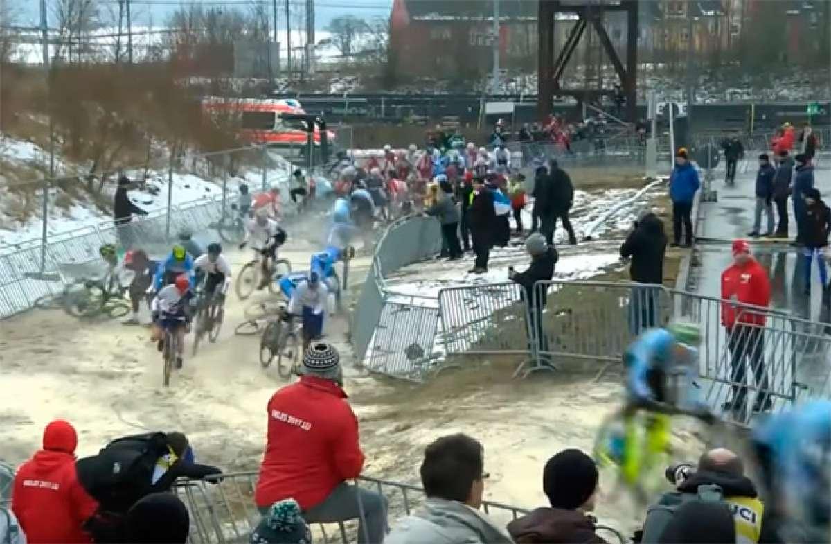 Recopilación de caídas en el Campeonato Mundial de CX 2017 de Bieles