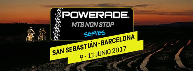 Más de 300 participantes en la Powerade MTB Non Stop San Sebastián-Barcelona 2017