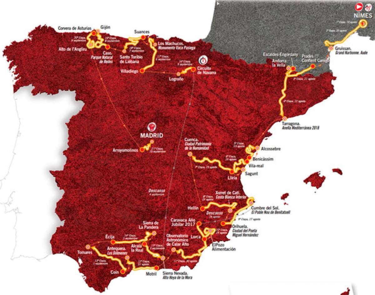 El recorrido de La Vuelta a España 2017, al completo