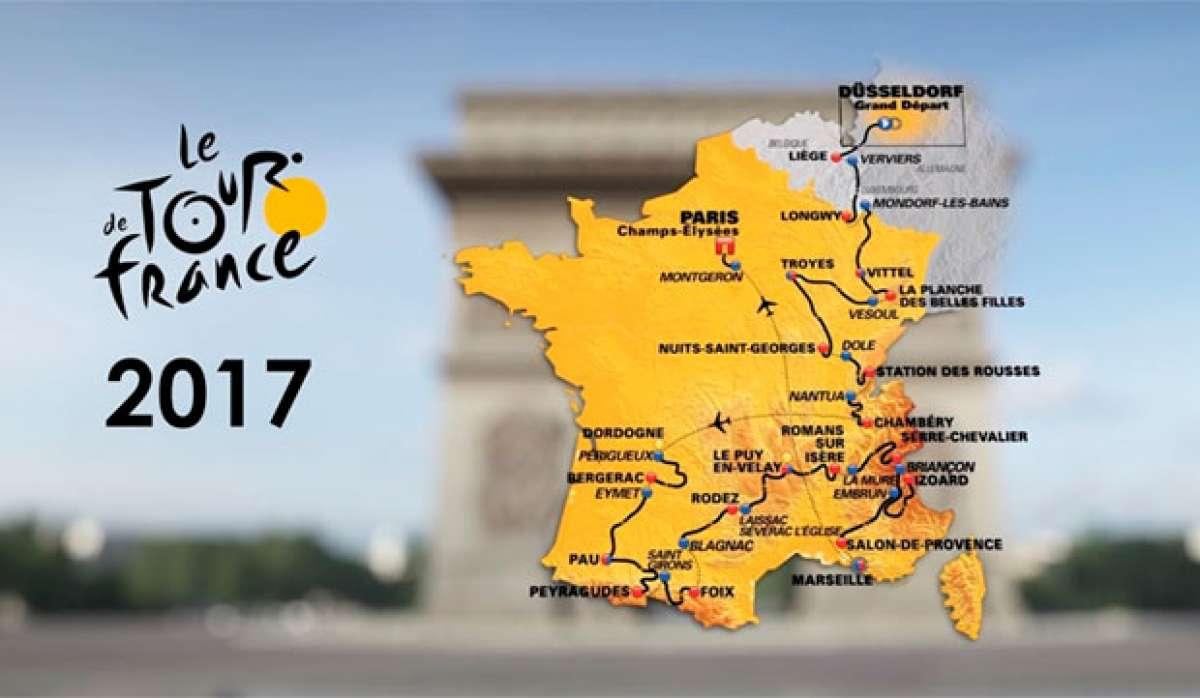 El recorrido del Tour de Francia 2017, al completo