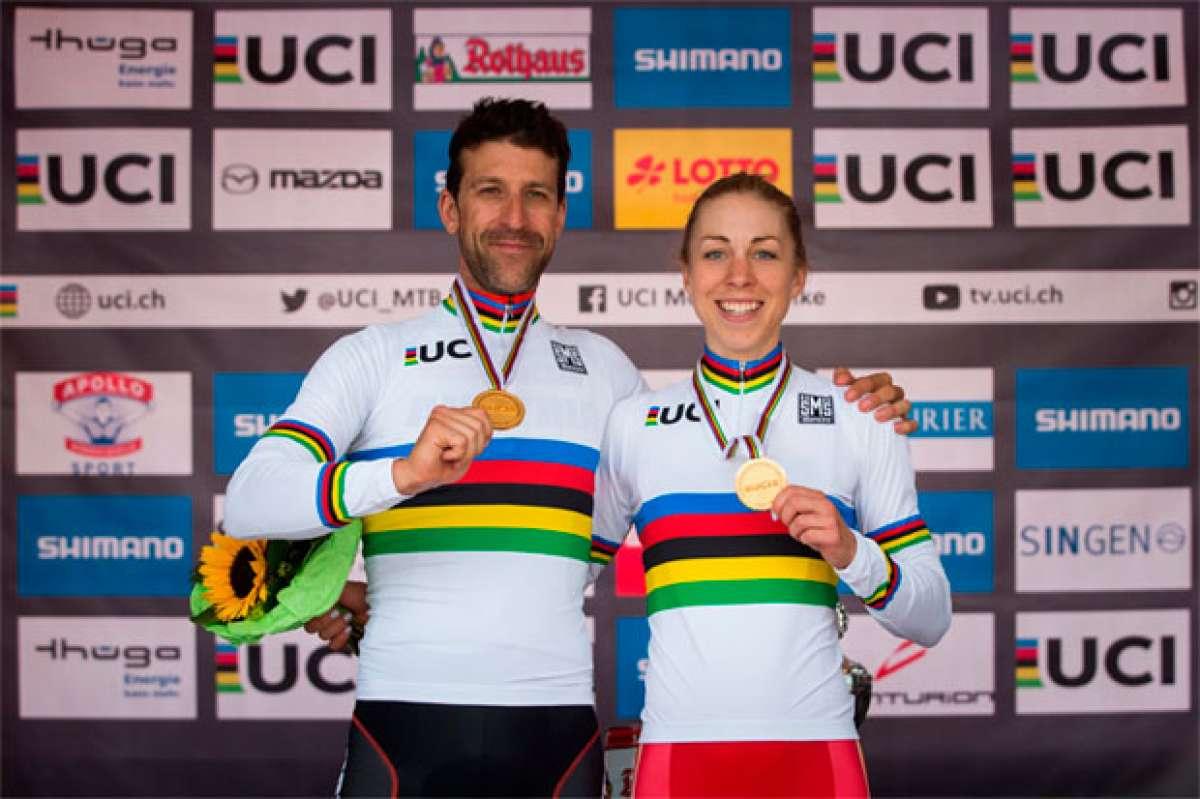 Alban Lakata y Annika Langvad se llevan el Campeonato del Mundo XCM 2017 de Singen