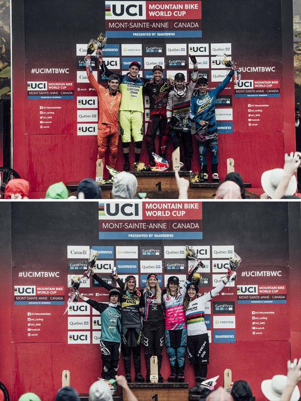 En TodoMountainBike: Victoria (pasada por agua) para Aaron Gwin y Tahnée Seagrave en la Copa del Mundo DHI 2017 de Mont-Sainte-Anne