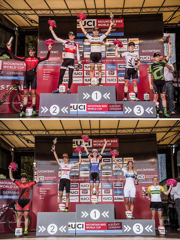 En TodoMountainBike: Nino Schurter repite victoria y Yana Belomoina se estrena en la Copa del Mundo XCO 2017 de Albstadt