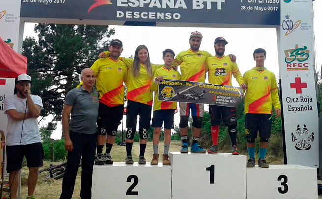 Edgar Carballo y Telma Torregrosa, vencedores del Open de España DH 2017