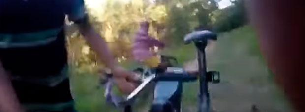 Así de rápido te roban la bicicleta de montaña en São Paulo (Brasil)