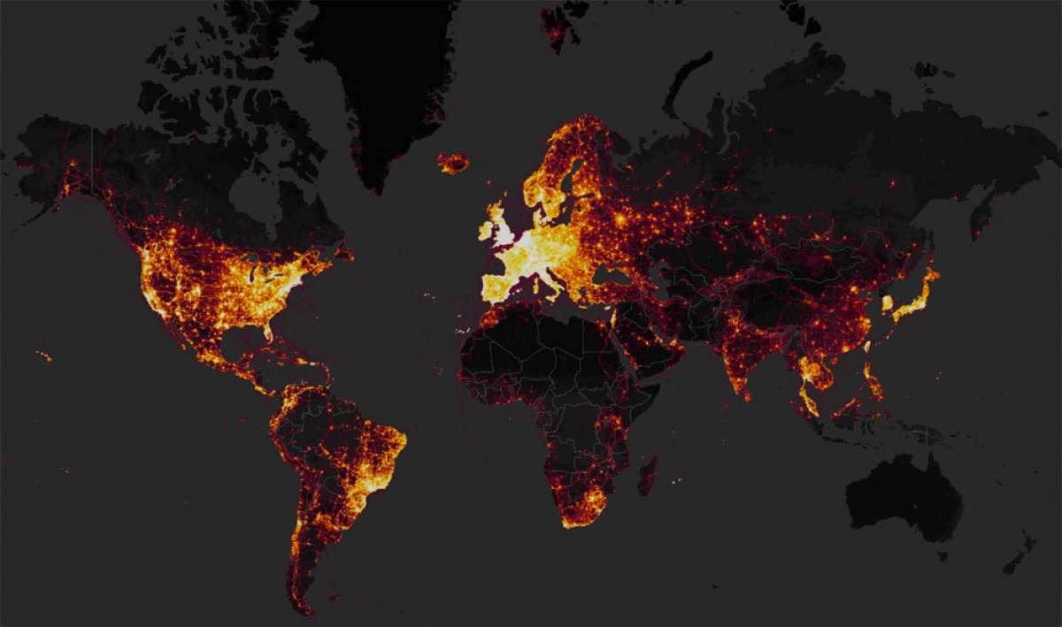 En TodoMountainBike: El mayor índice de actividades deportivas a escala planetaria: el mapa de calor de Strava