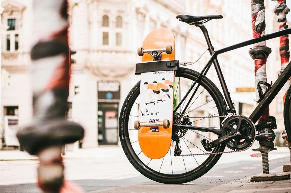 T-Rack, un portaequipajes para bicicletas diseñado para el transporte de objetos de longitud generosa