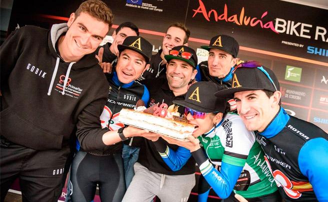 La tercera etapa de la Andalucía Bike Race 2017 con el Primaflor-Mondraker-Rotor Racing Team
