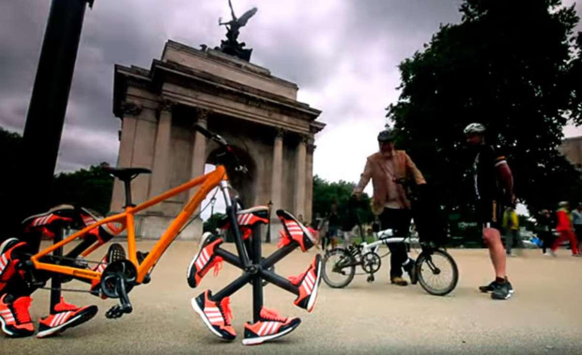 En TodoMountainBike: Zapatillas Adidas con suela Continental en lugar de ruedas para la 'Shoe Bike'