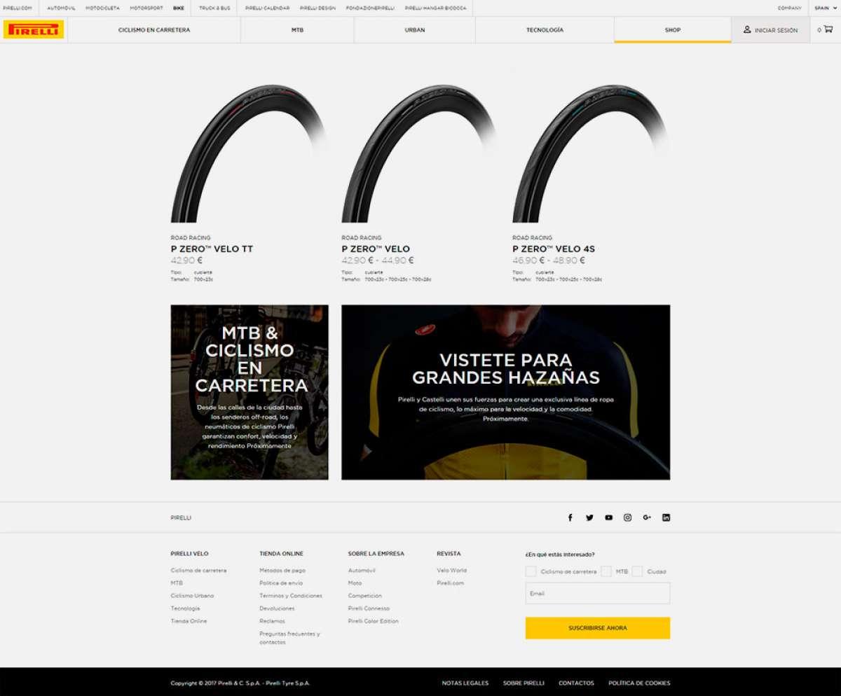 Pirelli estrena tienda online para su división de productos para ciclistas