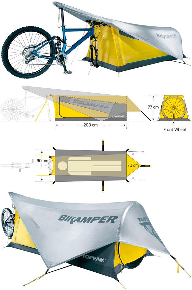 En TodoMountainBike: Topeak Bikamper 2017, la tienda de campaña exclusiva para ciclistas