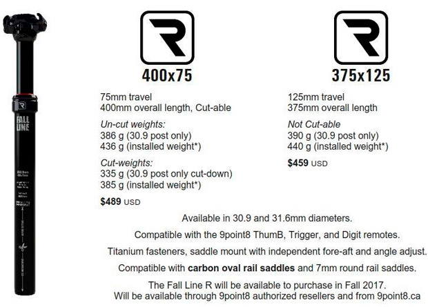 En TodoMountainBike: 9Point8 Fall Line R, la tija telescópica más ligera del mercado (hasta la fecha)