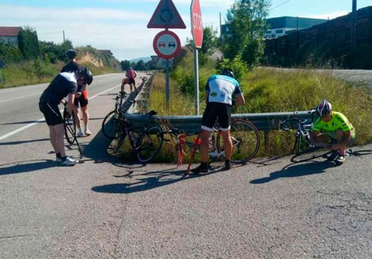 Alerta en Asturias: 5.000 chinchetas arrojadas en el arcén de la carretera N-634