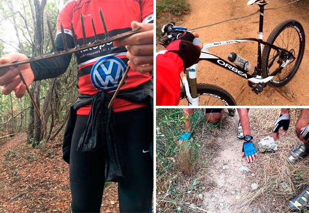 En TodoMountainBike: Alerta en Cataluña: trampas para ciclistas en los senderos de Santa Coloma de Farners (Girona)